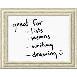 Framed 'Dry Erase Board Medium, White' 24 x 19-inch
