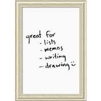 Framed 'Dry Erase Board Large, White' 24 x 34-inch
