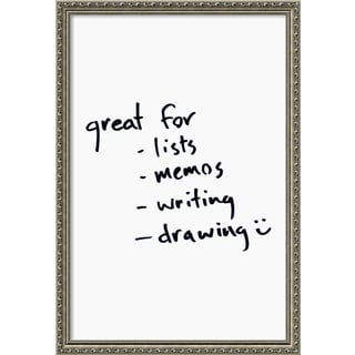 Framed 'Dry Erase Board Large, White' 22 x 32-inch