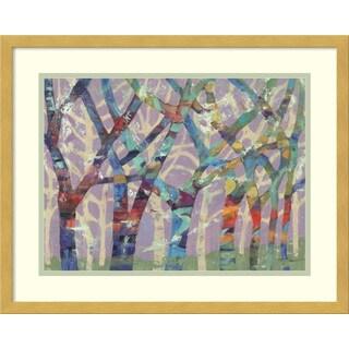 Framed Art Print 'Tree Party II' by M.J. Beswick 21 x 17-inch