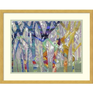 Framed Art Print 'Tree Party I' by M.J. Beswick 21 x 17-inch