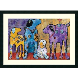 Framed Art Print 'Cast of Characters: Dogs' by Jenny Foster 45 x 33-inch