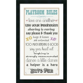 Framed Art Print 'Playroom Rules' by Anna Quach 18 x 29-inch