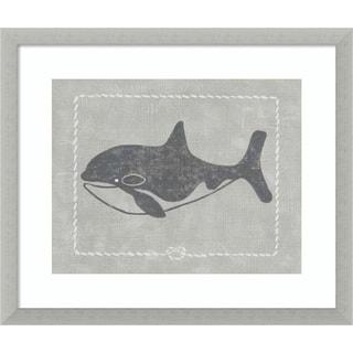 Framed Art Print 'Whale of a Tale II' by Chariklia Zarris 19 x 16-inch
