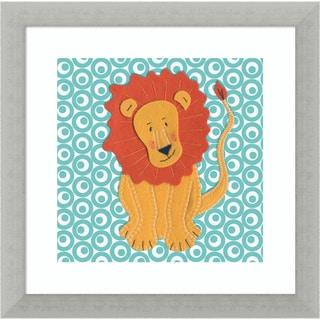 Framed Art Print 'Fuzzy Lion' by Catherine Colebrook 12 x 12-inch