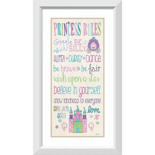 Framed Art Print 'Princess Rules' by Jo Moulton 20 x 35-inch