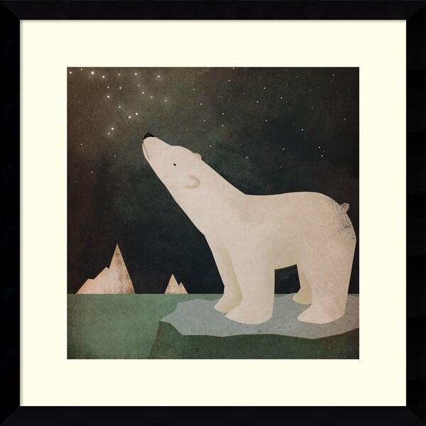 Framed Art Print 'Constellations Polar Bear' by Ryan Fowler 17 x 17-inch