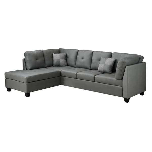 Excellent Light Grey Bonded Leather Sofa Sectional Ocoug Best Dining Table And Chair Ideas Images Ocougorg