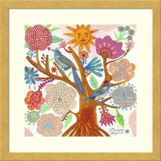 Framed Art Print 'Sun Tree' by Mercedes Lagunas 14 x 14-inch