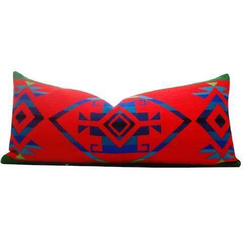 Hudson Lodge Falcon Red 14-inch x 30-inch Lumbar Throw Pillow