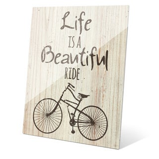 'Life is a Beautiful Ride - Gris' Wall Graphic on Glass