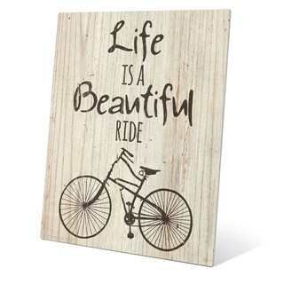 'Life is a Beautiful Ride' Wall Graphic on Metal