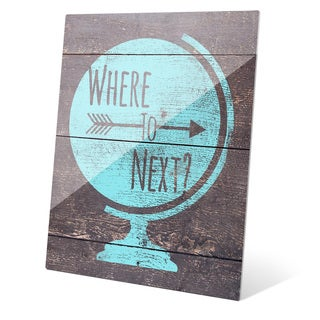 'Where to Next - Blue' Acrylic Wall Graphic