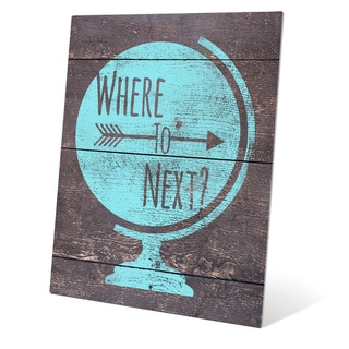 'Where To Next' Blue Metal Wall Graphic