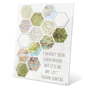 'Hexagon Maps On My List' Glass Wall Graphic (2 options available)