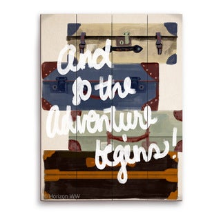 'And So The Adventure Begins!' Wall Graphic on Wood