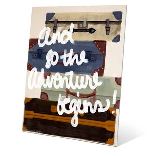 And So The Adventure Begins!' Multicolored Metal Wall Graphic