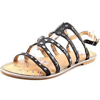 Yellow Box Women's 'Maikin' Black Faux Leather Sandals