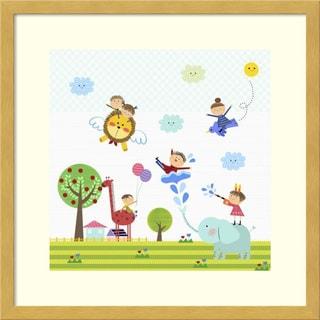 Framed Art Print 'Happy children enjoying their time III' by Jiyeong Na 17 x 17-inch