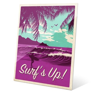 'Surf's Up Cool Purple' Glass Wall Graphic