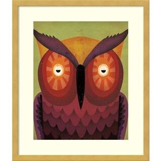 Framed Art Print 'Owl WOW' by Ryan Fowler 17 x 20-inch