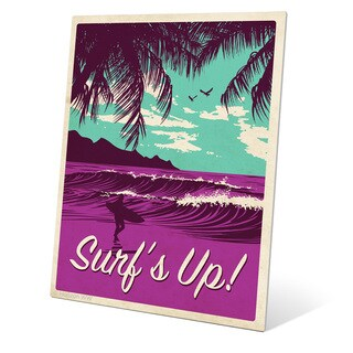 'Surf's Up Cool Purple' Metal Wall Graphic