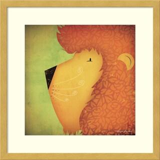 Framed Art Print 'Lion WOW' by Ryan Fowler 17 x 17-inch
