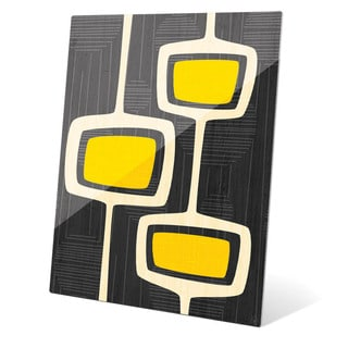 'Retro Yellow Bubble Towers' Glass Wall Graphic