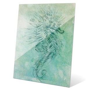 'Turquoise Seahorse' Glass Wall Graphic
