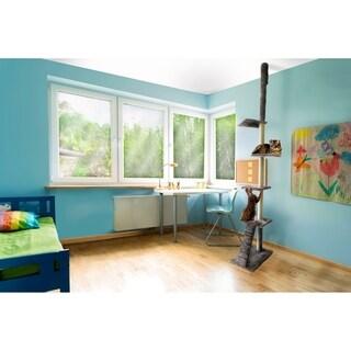 Furhaven Cat Ladder Adjustable 114''-127'' Cat Tree