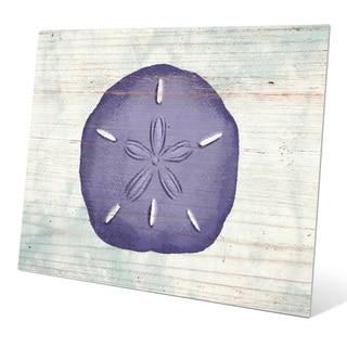'Rustic Sand Dollar Iris' Wall Graphic on Metal