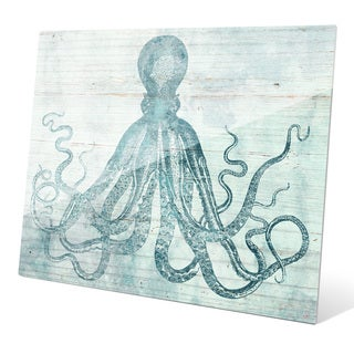 'Vintage Octopus Ocean Blue' Acrylic Wall Graphic