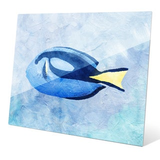 'Blue Tang Painted' Wall Graphic on Glass