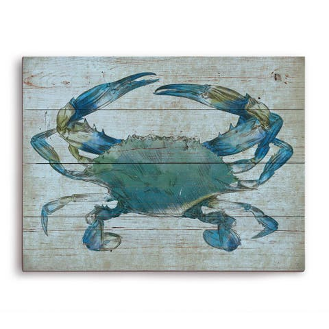 'Crab' Wall Graphic on Wood