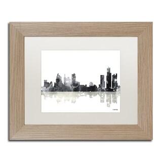 Marlene Watson 'Boston Mass Skyline BG-1' Matted Framed Art