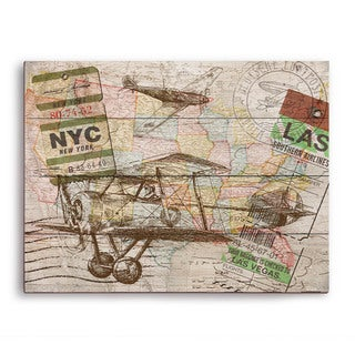 'Map in the Sky 2' Wood Wall Graphic