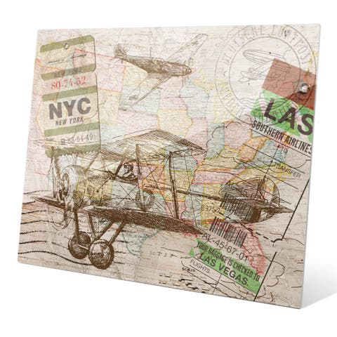 'Map in the Sky2' Wall Graphic on Glass