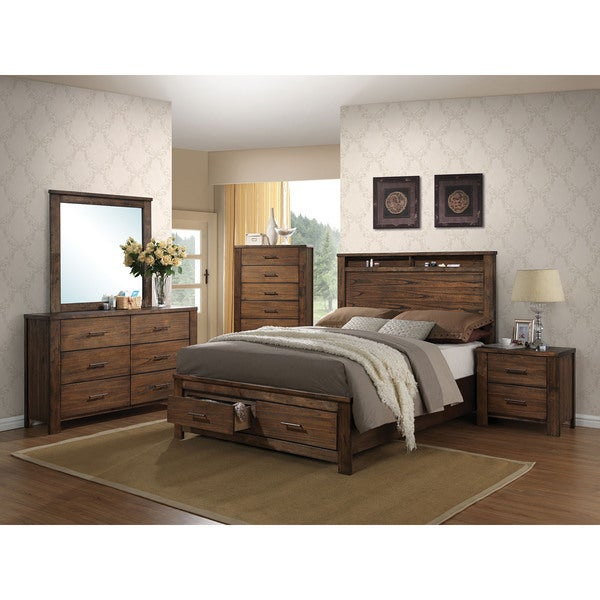Acme Furniture Merrilee Oak Storage Bed