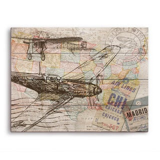 'Map of the Sky' Wall Graphic on Wood