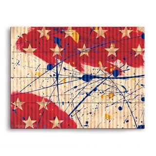 'Stars and Splash' Wall Graphic on Wood