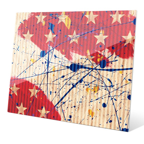 'Stars and Splash' Glass Wall Graphic. Opens flyout.