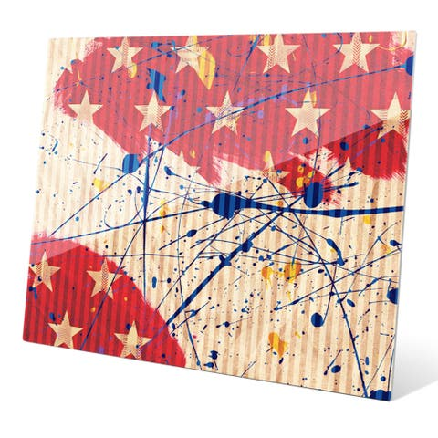'Stars and Splash' Wall Graphic on Acrylic
