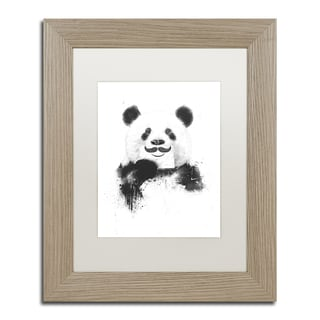 Balazs Solti 'Funny Panda' Matted Framed Art