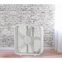 20-inch White Metal High Velocity Oscillating Box Fan