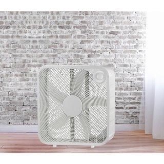 20-inch White Metal High Velocity Oscillating Box Fan