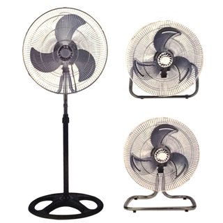 Unique Imports 18-inch Floor-stand Mount Shop/Commericial High-velocity Osscillating Industrial Fan (2-year Warranty)