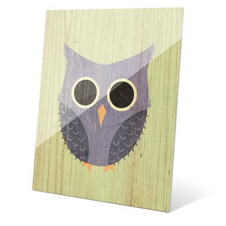 'Little Owl Summer' Wall Graphic on Glass