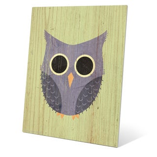'Little Owl Summer' Metal Wall Graphic
