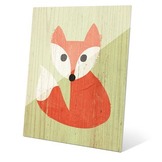 'Little Fox Summer' Glass Wall Graphic