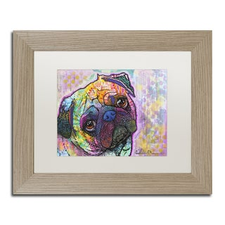 Dean Russo 'Pug Love' Matted Framed Art